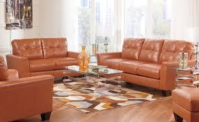 Bonded Leather Sofa Paulie Orange Bonded Leather Sofa Marjen Of Chicago Chicago