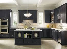 Open Shelves Under Cabinets Bluish Gray Kitchen Cabinets White Tile In Ceramic Sink Black