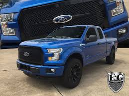 all ford f150 ford f150 heavy mesh all black grille by e g classics 2015 2016