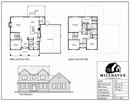Two Level Floor Plans Millhaven Homes Semi Custom And Custom Floorplans