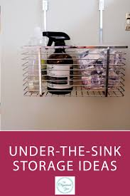 under the sink storage ideas blog home organisation the