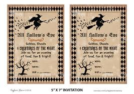 vintage style halloween invitation card and poster template with