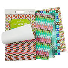 gift wrapping paper miniature wrapping paper pad in graphic geometric patterns