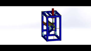 shearing machine animation in solidworks 2012 by shubham dharviya