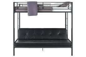 dhp furniture jasper premium twin over futon bunk bed with black