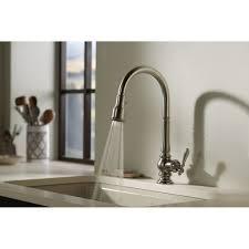 Delta Brushed Nickel Kitchen Faucet Kitchen Makeovers Kitchen Sink Spigot Brushed Nickel Bathroom