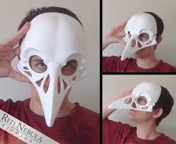 Skeleton Masks For Halloween by Raven Skull Mask Blank Crow Skull Masque Corvid Skull Face