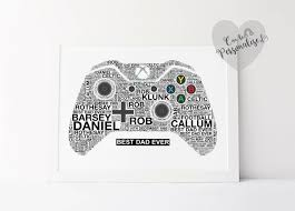 personalised xbox controller gamer room decor game print