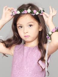 flower hair band birthday hair band flower pearl girl s wreath hairband with free