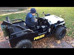 Little Heroes Police Jeep For Kids Children Motor Jeep Driven By