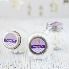 wedding favor jars personalized mini glass jars