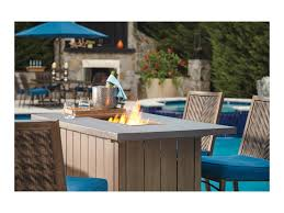 Patio Furniture Cleveland Ohio by Signature Design By Ashley Partanna Outdoor Bar Table W Fire Pit