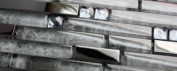 stainless steel mosaic tile backsplash ssmt028 glossy stainless