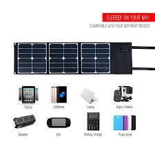 Diy Solar Phone Charger Aliexpress Com Buy Elegeek 5v 18v 40w Portable Solar Panel