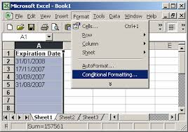 format date in excel 2007 ms excel 2003 automatically highlight expired dates and dates that