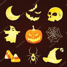 cute halloween icons u2014 stock vector deedl 52278899