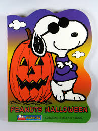 peanuts fun shaped coloring book joe cool halloween