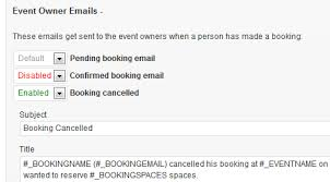 custom booking email templates events manager for wordpress