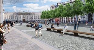 green plans plans unveiled for new college green plaza in dublin