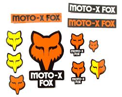 fox motocross stickers fox sticker kit track pack orange maciag offroad