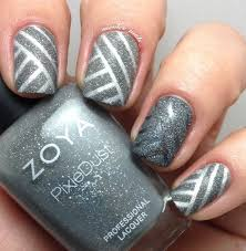 35 gray nail art designs manicures glitter and silver nails