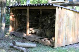 How To Build A Cheap Cabin by How To Build An Outdoor Firewood Storage Shed How Tos Diy