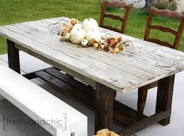 Building Outdoor Wood Table by Thrifty And Chic Diy Projects And Home Decor