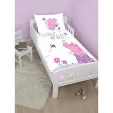 Junior Cot Bed Duvet Set Peppa Pig U0027happy U0027 Junior Toddler Or Cot Duvet Cover Bedding Set