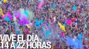 holi festival of colours santiago de chile youtube