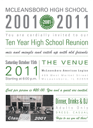 high school class reunion invitations mcleansboro high school reunion invitations by friederich