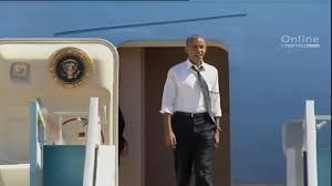 obama shouts to bill clinton at air force one u0027let u0027s go u0027 cnn video