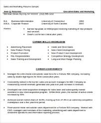 Sale And Marketing Resume Sample Mba Marketing Resume 6 Examples In Word Pdf