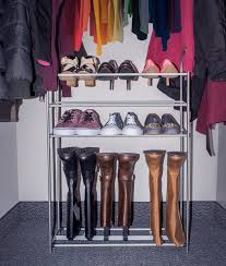 shoe and boot rack organizer storage 3 levels for shoes and 1