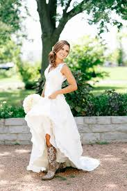 wedding dress cowboy boots wedding dress with cowboy boots gown and dress gallery