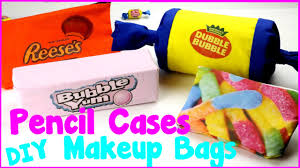 diy crafts 4 easy diy candy pencil cases and makeup bags no sew