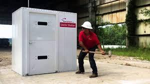 modular safe room storm shelter test by torshel extreme testing
