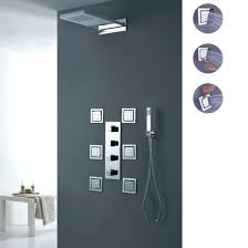 Grohe Shower Systems Cool Shower Head Luxury Waterfall Rain System With Body Sprays