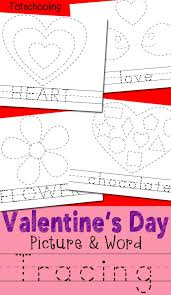 valentine u0027s day picture u0026 word tracing printables totschooling
