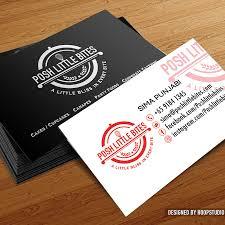 poshlittlebites business logo design namecard design