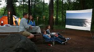 Backyard Movie Theatre by Technology Makes Outdoor Movie Theater Easy