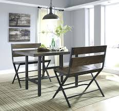60 black dining bench room table with inch upholstered cushion