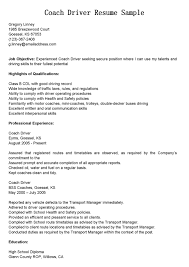 Truck Driver Resume Example by Coach Driver Cover Letter