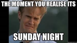 Its Sunday Meme - the moment you realise its sunday night well2365 meme generator