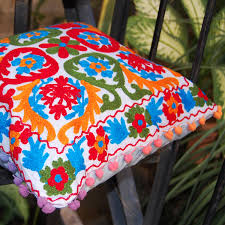 pillow cases indian style embroidered suzani sofa cushion
