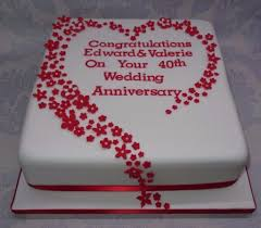 ruby wedding cakes wedding cake ru wedding anniversary cake decorations with regard