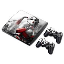 ps4 themes harley quinn ps3 slim playstation 3 console skin decal sticker harley quinn