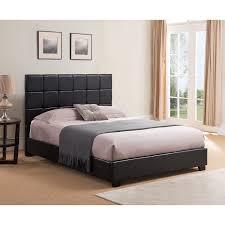 Leather Platform Bed Oxford Creek Black Faux Leather Size Platform Bed