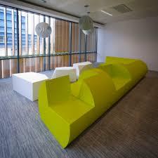 modular upholstered bench original design polyethylene for