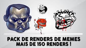 Render Memes - pacote de renders de memes mais de 150 renders em png youtube