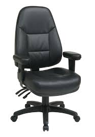 High Back Leather Armchair Work Smart Professional Dual Function Ergonomic High Back Leather